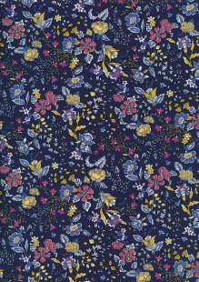 Rose & Hubble - Quality Cotton Print CP-0815 Navy