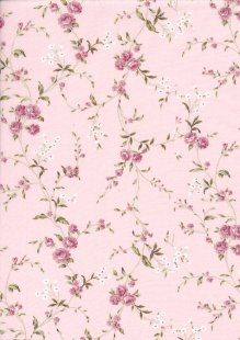 Quality Cotton Print - Roses Pink