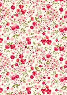 Rose & Hubble - Quality Cotton Print CP-0709 Ivory