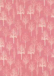 Quality Cotton Print - Trees Pink