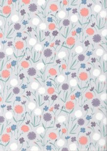 Quality Cotton Print - Floral Sketch Lilac