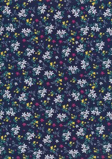 Rose & Hubble - Quality Cotton Print CP-0784 Navy