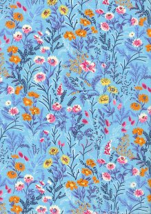 Rose & Hubble - Quality Cotton Print CP-0788 Blue