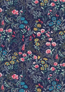 Rose & Hubble - Quality Cotton Print CP-0778 Navy