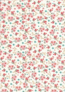 Rose & Hubble - Quality Cotton Print CP-0784 Coral