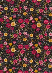 Rose & Hubble - Quality Cotton Print CP-0728 Black