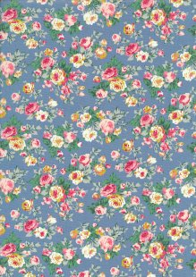Rose & Hubble - Quality Cotton Print CP-0792 Copen