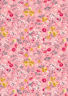 Rose & Hubble - Quality Cotton Print CP-0709 Pink