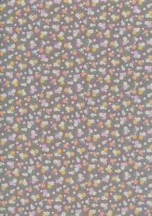 Quality Cotton Print - Ditsy Floral Grey