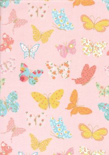 Quality Cotton Print - Butterfly Pink