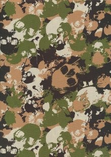 Rose & Hubble - Quality Cotton Print CP-0864 Jungle Skulls
