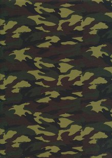 Rose & Hubble - Quality Cotton Print CP-0437 Jungle Camouflage