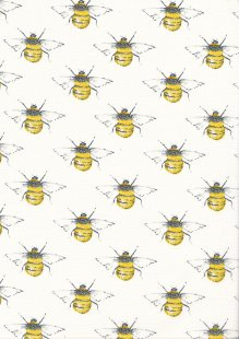 Rose & Hubble - Quality Cotton Print Bees CP0395 Ivory