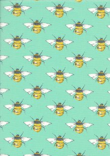 Rose & Hubble - Quality Cotton Print Bees CP0395 Meadow