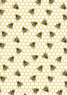 Rose & Hubble - Quality Cotton Print Bees CP0837 Ivory