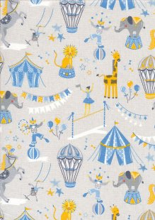 Craft Cotton Co - Carnival Circus Carnival Circus Blue