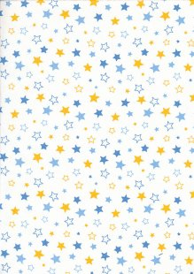 Craft Cotton Co - Carnival Circus Stars Blue