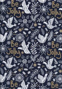 Craft Cotton Co - Christmas Be Jolly Navy