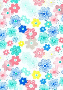 Craft Cotton Co - Colour Pop Geo Pop Flowers 2299-00