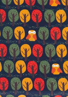 Craft Cotton Co - Foxy Fall Trees and Birds