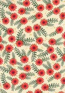 Craft Cotton Co - Foxy Fall Floral