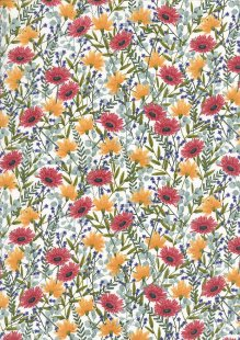 Craft Cotton Co - Bees Floral  Floral Multi