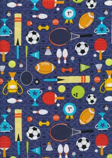 Craft Cotton Co - Sports Day Sports Day Navy