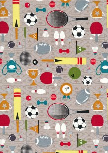 Craft Cotton Co - Sports Day Sports Day Taupe