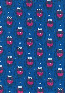 Craft Cotton Co - Monsters Monsters  Navy blue