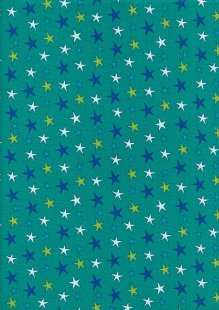 Craft Cotton Co - Monsters Monsters Stars Jade