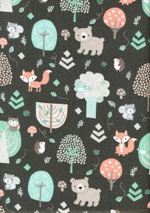 Craft Cotton Co - 3 Wishes Little Forest Animals in the Forest Brown