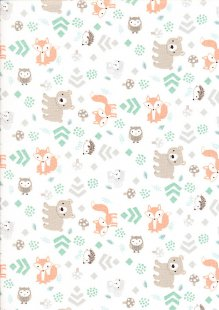 Craft Cotton Co - 3 Wishes Little Forest Fox Grey
