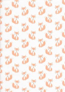 Craft Cotton Co - 3 Wishes Little Forest Animals with Leaves White