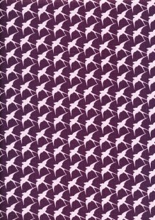 Craft Cotton Co - Flora and Fauna Birds Purple