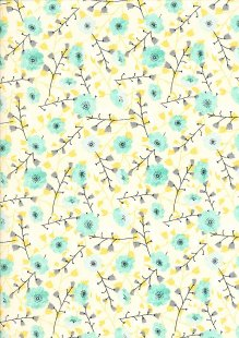 Craft Cotton Co - 3 Songbird Floral Yellow