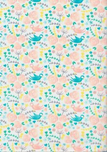 Craft Cotton Spring Is In The Air - Bird White