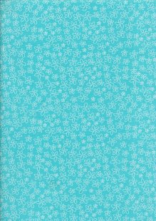 Craft Cotton Spring Is In The Air - Pressed Flower Turquoise