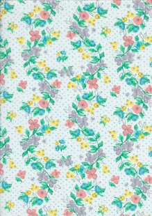 Craft Cotton Spring Is In The Air - Painted Floral Vine White
