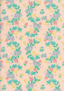 Craft Cotton Spring Is In The Air - Painted Floral Vine Pink