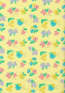 Craft Cotton Spring Is In The Air - Painted Floral Yellow