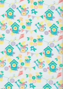 Craft Cotton Spring Is In The Air - Garden Fun White