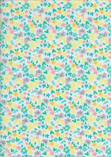 Craft Cotton Spring Is In The Air - Ditsy Floral White