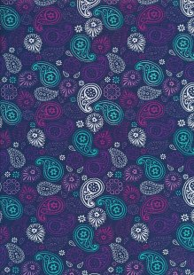 Craft Cotton Birdhouse - Paisley Navy