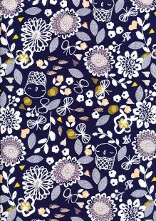 Dashwood Studio - Autumn Rain AURA 1273 - Owl & Flowers