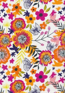Dashwood Studio - Distant Dreams Exotic Flowers White DIDR 1194