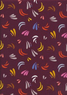 Dashwood Studio - Safari Meadow SAFA1371 Burgundy