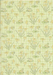 Debbie Shore - Lily Pad Frogs On Gingham