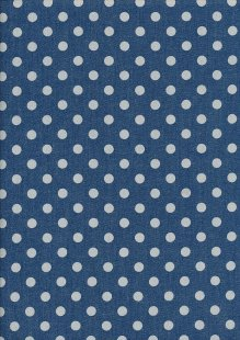 Cotton Chambray - Spots On Blue