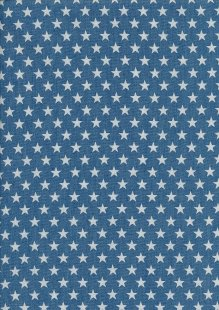 Cotton Chambray - Stars On Blue