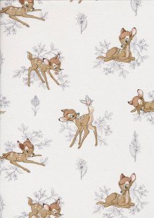 Disney's Bambi - Bambi & Grey Foliage On White